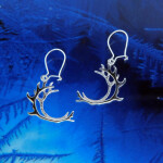 Reindeer Antler Earring, medium